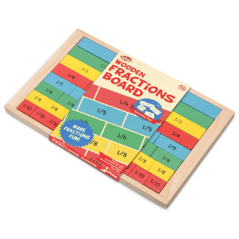 Wooden Fractions Board Educational Toy Age 7+ Tobar